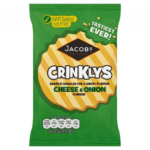 Jacob's Crinklys Cheese & Onion Flavour 105g